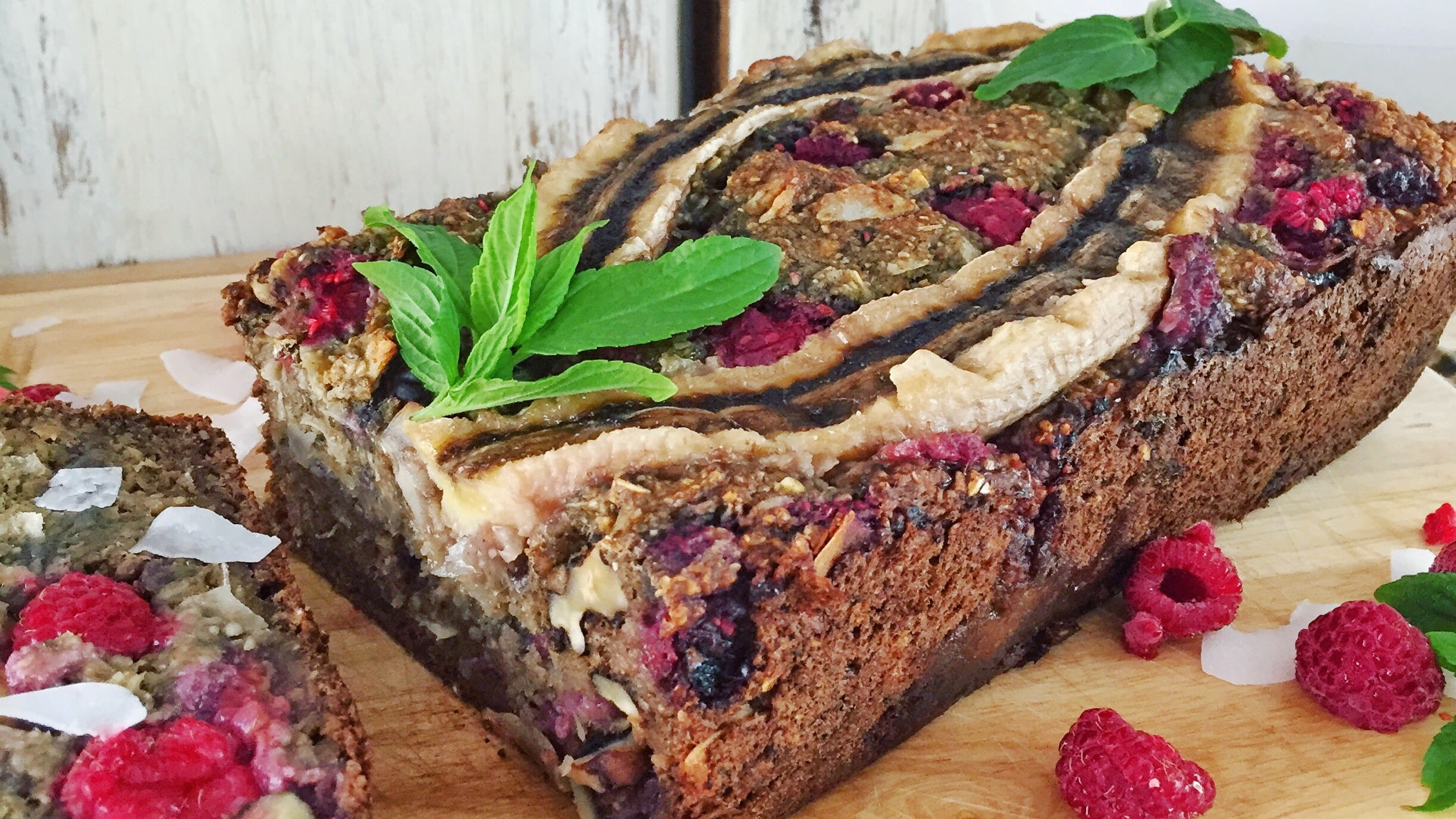 Raspberry & Coconut Banana Bread