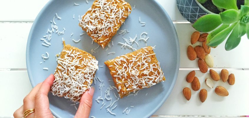 Mango & Coconut No-bake Slice