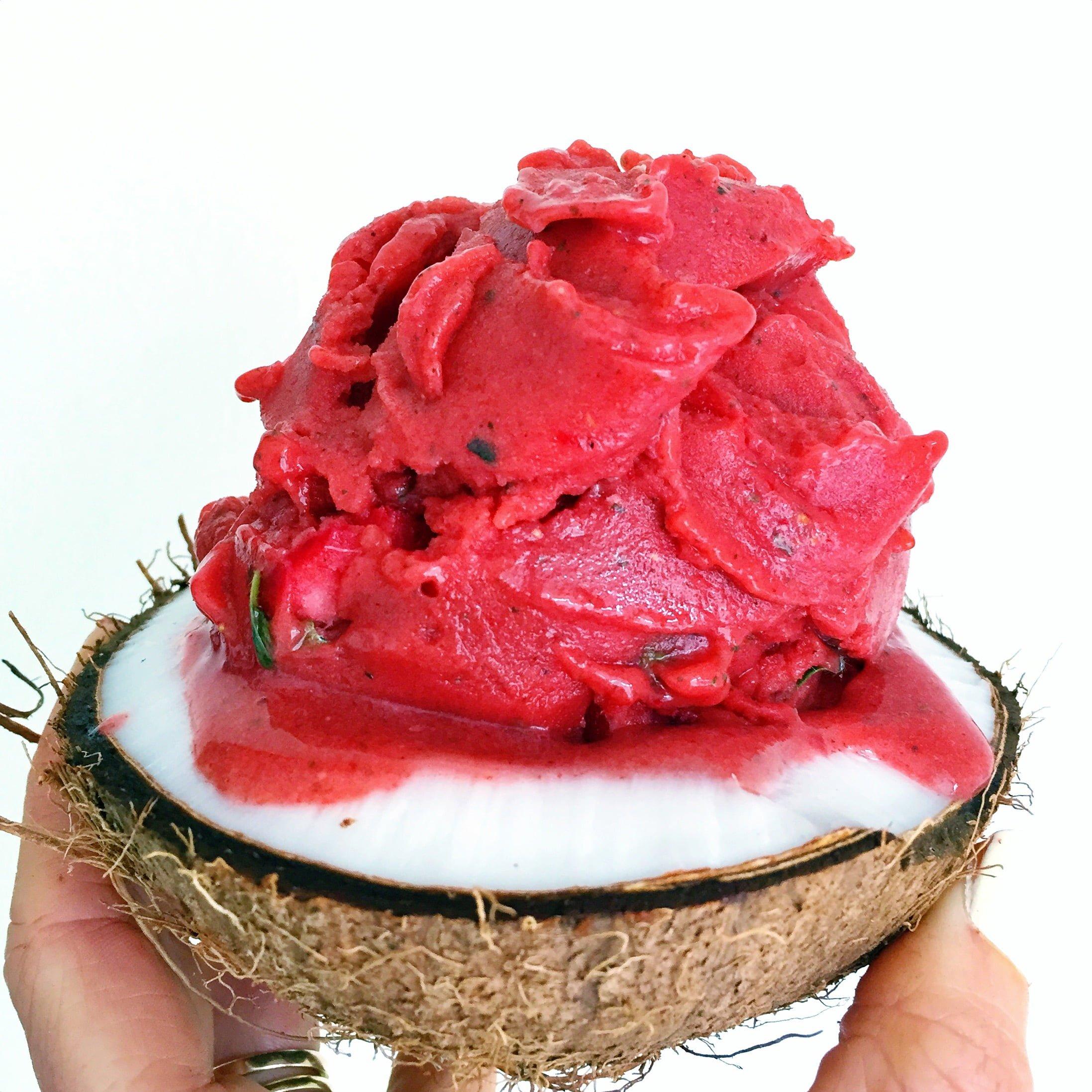 Strawberry, Mint & Coconut Nice-cream