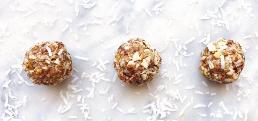 Pistachio & Coconut Vanilla Bliss Balls