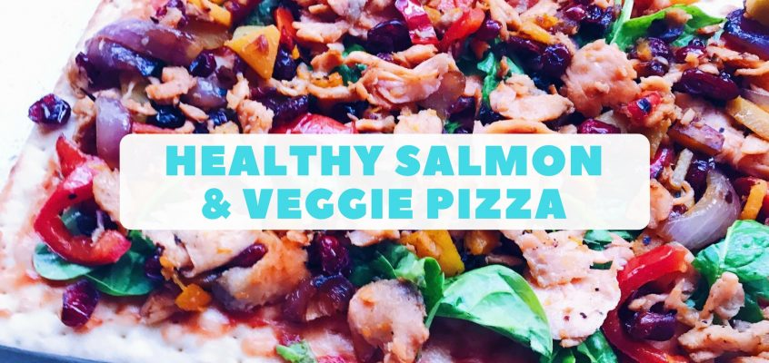 Healthy Salmon & Veggie Pizza
