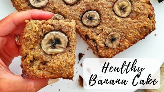 Healthy Banana Cake (vegan, low GI)