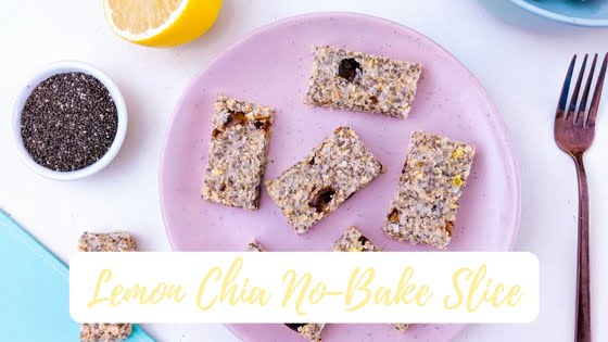 Lemon Chia No-Bake Slice