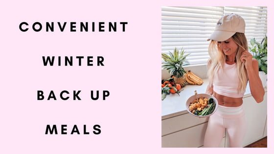 Convenient Winter Back Up Meals