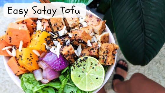 Easy Satay Tofu