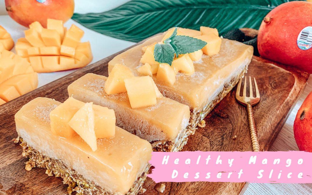 Healthy Mango Dessert Slice