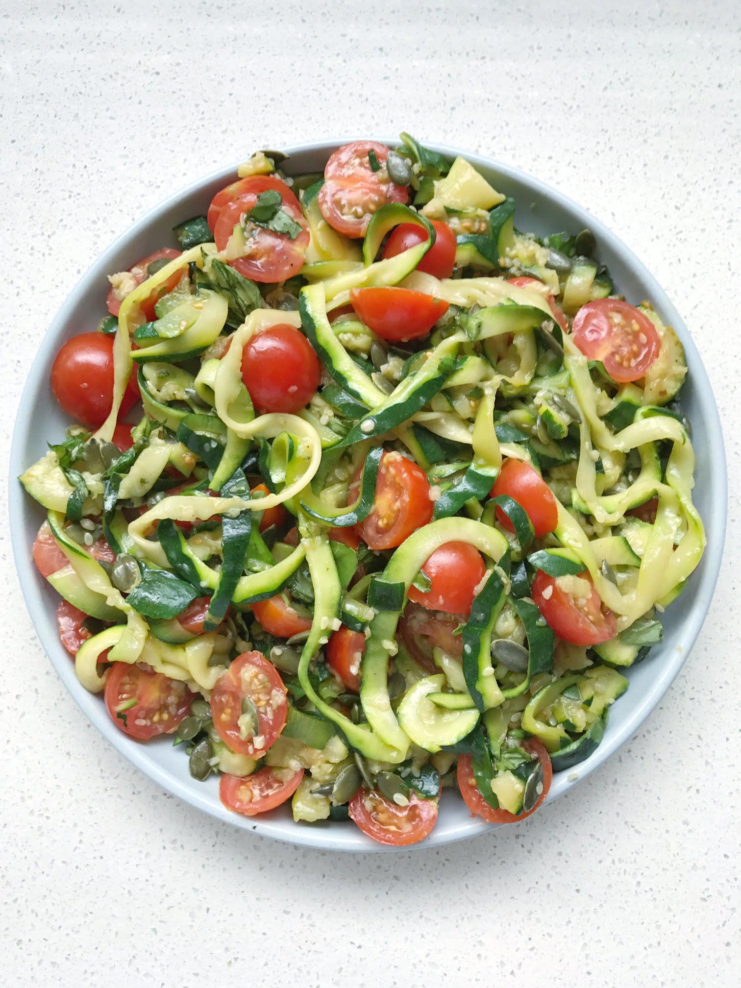 Healthy Pesto Zucchini Pasta