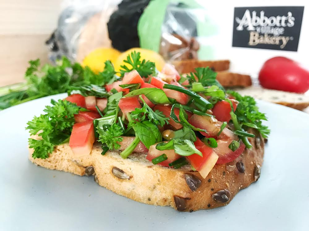 Healthy Bruschetta & The New Gluten-Free Bread on the Block