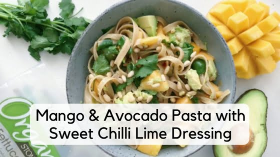 Mango & Avocado Pasta with Sweet Chilli Lime Dressing
