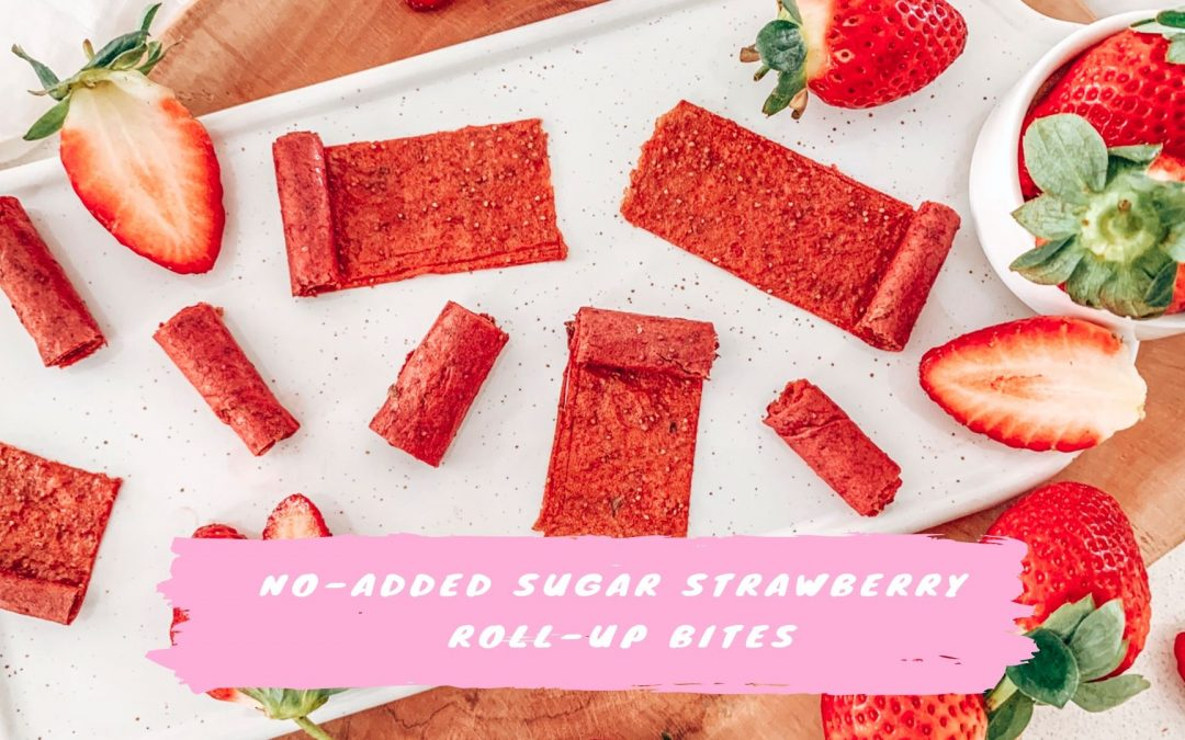 No-Added Sugar Strawberry Roll-Up Bites
