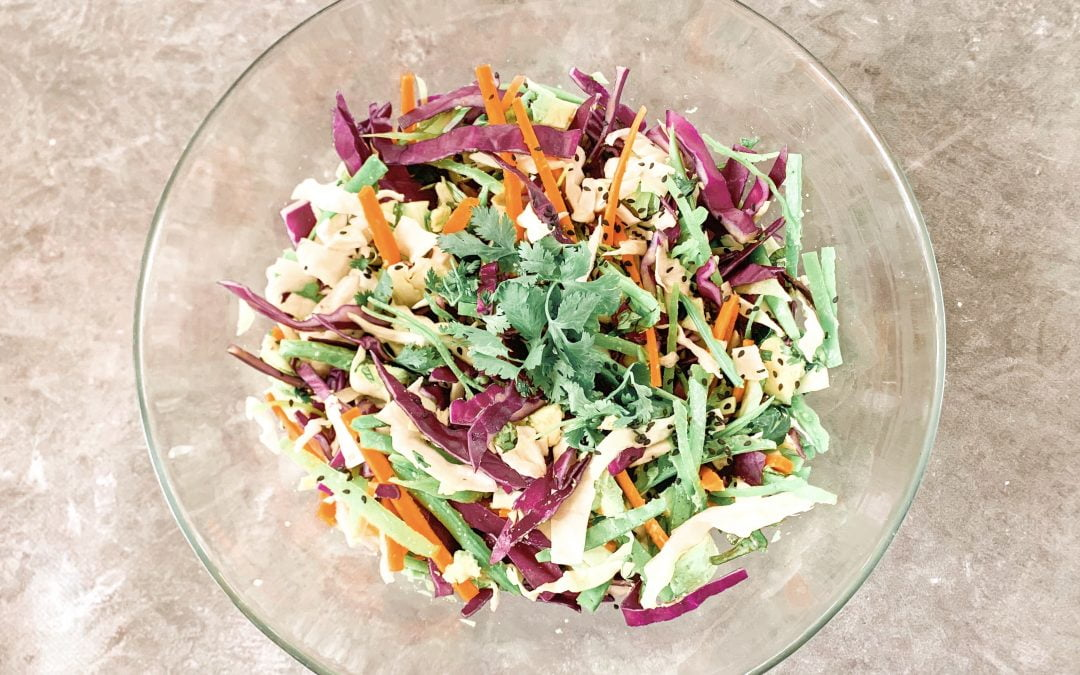 Crunchy Cabbage Salad with Peanut Satay Dressing