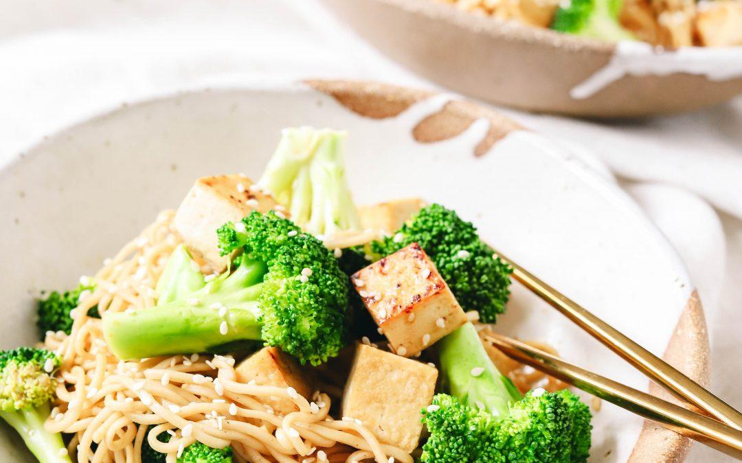 Broccoli and Tofu Soba Noodles