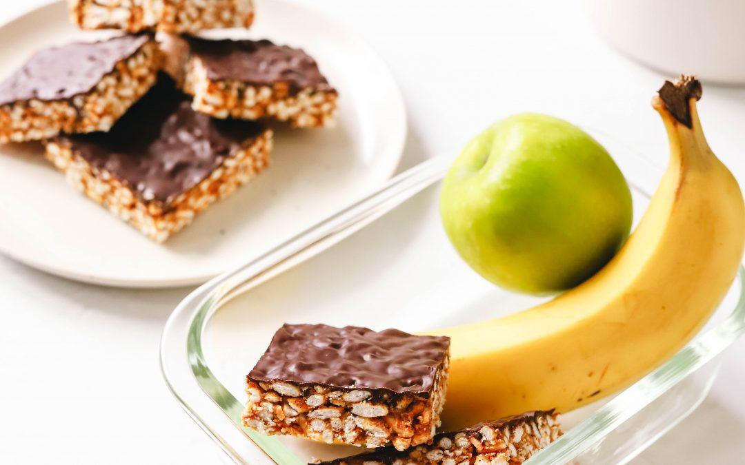No Bake Choc-Nutty Rice Crispy Bars