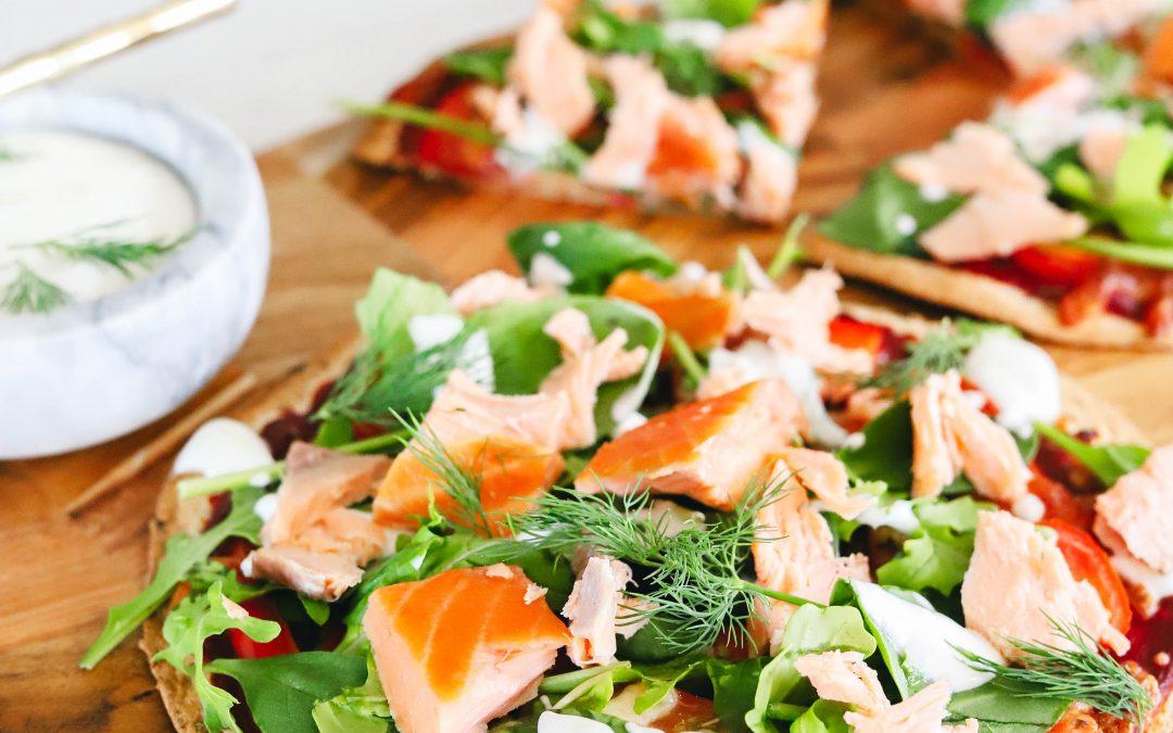 Healthy Smoked Salmon Pizza