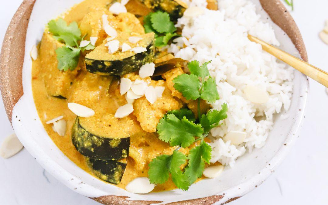 Cauliflower & Eggplant Almond Curry
